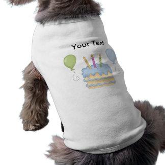 Torta de los globos del muchacho azul del feliz cu playera sin mangas para perro
