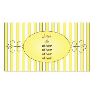 Torta de lujo amarilla tarjeta personal