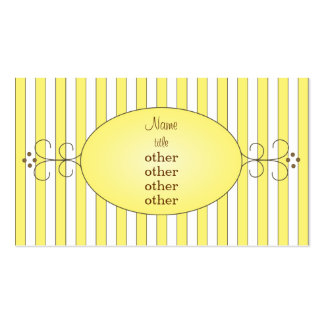 Torta de lujo amarilla tarjetas de visita