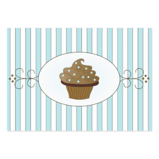 Torta de lujo azul dos plantillas de tarjetas de visita