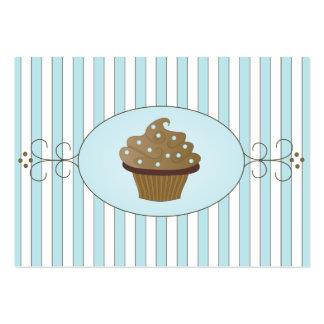 Torta de lujo azul plantilla de tarjeta de negocio