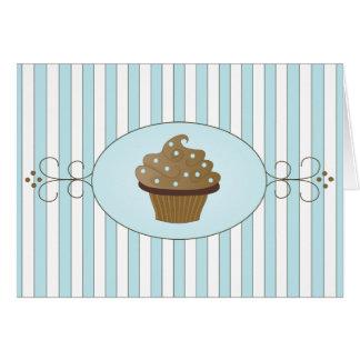 Torta de lujo azul tarjeta pequeña