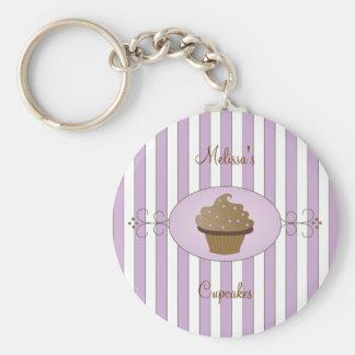 Torta de lujo púrpura llavero redondo tipo pin