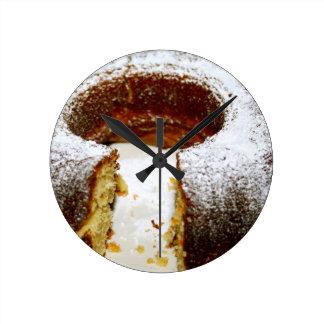 Torta de Marbré/esquina de la bella arte Reloj Redondo Mediano