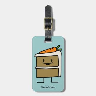 Torta de zanahoria etiquetas para equipaje