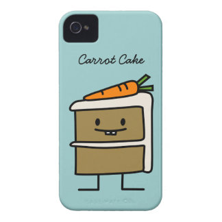 Torta de zanahoria Case-Mate iPhone 4 protectores