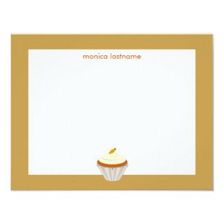 Torta de zanahoria Notecard plano personalizado Comunicados Personales