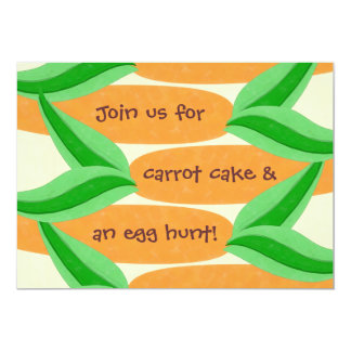 Torta de zanahoria y una invitación de Pascua de