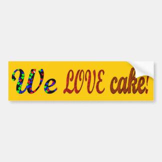 Torta del amor etiqueta de parachoque