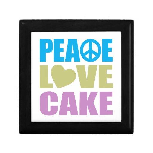 Torta del amor de la paz cajas de joyas