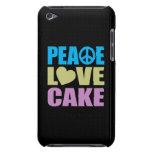 Torta del amor de la paz iPod touch fundas