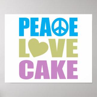 Torta del amor de la paz impresiones