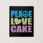 Torta del amor de la paz puzzle