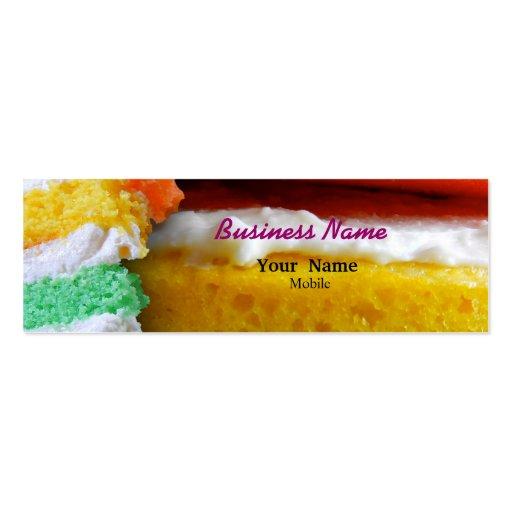 Torta del arco iris tarjetas de visita mini