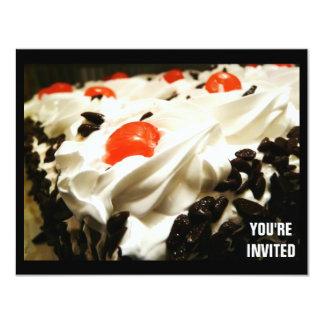 Torta del bosque negro cualquier invitación del