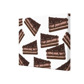 Torta del chocolate con leche lona estirada galerias