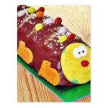 Torta del chocolate de los niños en la forma de Ca Postales