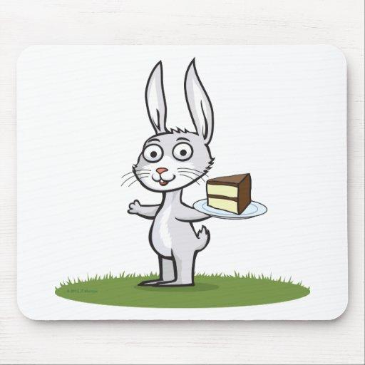 Torta del conejito tapete de raton