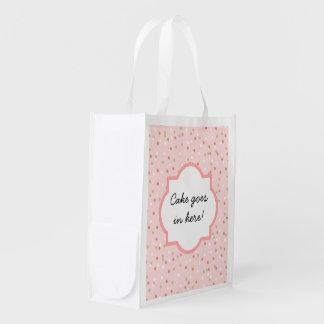 Torta del confeti • El helar rosado de Buttercream Bolsa Para La Compra