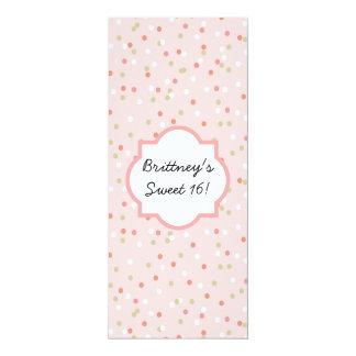 """Torta del confeti • El helar rosado de Buttercream Invitación 4"""" X 9.25"""""""