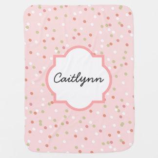 Torta del confeti • El helar rosado de Buttercream Manta De Bebé