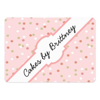 Torta del confeti • El helar rosado de Buttercream Tarjetas De Visita Grandes