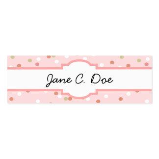 Torta del confeti • El helar rosado de Buttercream Tarjetas De Visita Mini