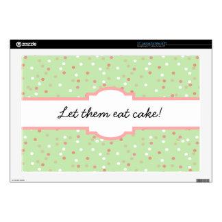 Torta del confeti • El helar verde de Buttercream Calcomanías Para Portátiles