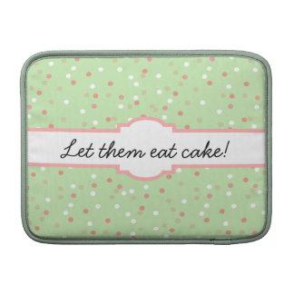 Torta del confeti • El helar verde de Buttercream Fundas Macbook Air