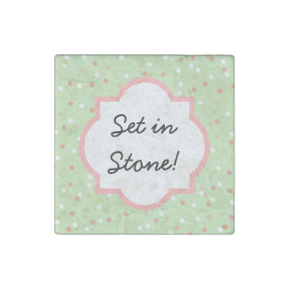 Torta del confeti • El helar verde de Buttercream Imán De Piedra