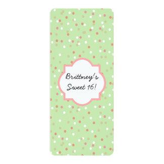 Torta del confeti • El helar verde de Buttercream Invitación 10,1 X 23,5 Cm