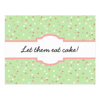 Torta del confeti • El helar verde de Buttercream Tarjetas Postales