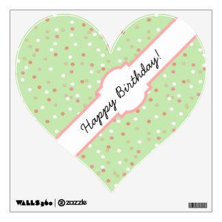 Torta del confeti • El helar verde de Buttercream Vinilo Adhesivo