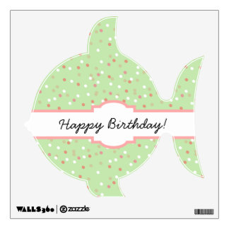 Torta del confeti • El helar verde de Buttercream Vinilo Decorativo