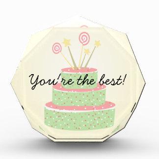 Torta del confeti • Torta de cumpleaños verde
