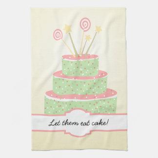 Torta del confeti • Torta de cumpleaños verde Toalla De Mano