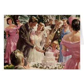 Torta del corte de los recienes casados del novio  felicitaciones