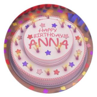 Torta del cumpleaños de Ana Plato Para Fiesta