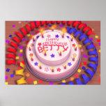 Torta del cumpleaños de Betty Posters