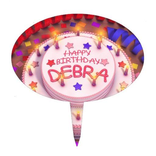 Torta del cumpleaños de Debra Decoración Para Tarta