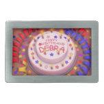 Torta del cumpleaños de Debra Hebilla Cinturón Rectangular