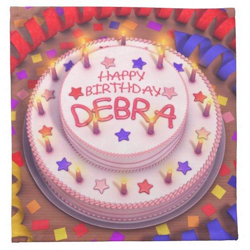 Torta del cumpleaños de Debra Servilletas De Papel
