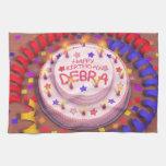 Torta del cumpleaños de Debra Toallas