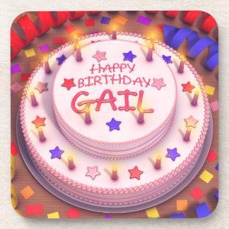 Torta del cumpleaños de Gail Posavasos De Bebida