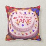 Torta del cumpleaños de Jane Cojin