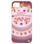 Torta del cumpleaños de Jane iPhone 5 Fundas