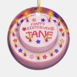 Torta del cumpleaños de Jane Ornatos