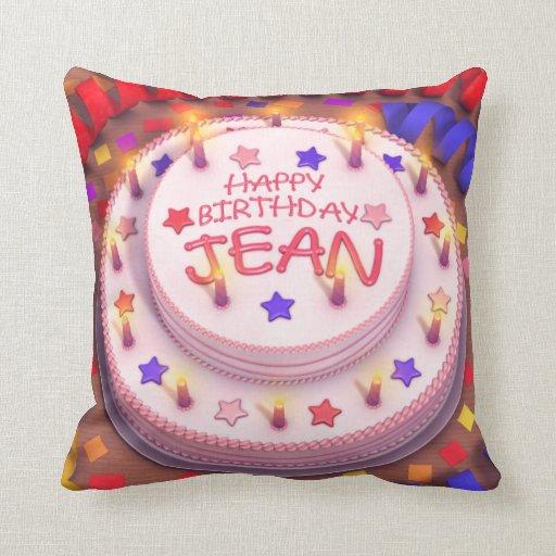 Torta del cumpleaños de Jean Cojines