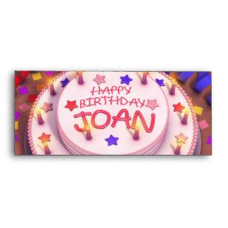 Torta del cumpleaños de Joan