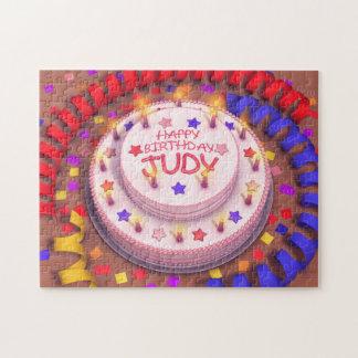 Torta del cumpleaños de Judy Rompecabeza Con Fotos